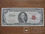 100 долларов 1966 года, красная печать