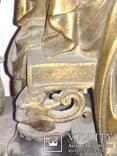 Часы каминные антикварные Жозефина мрамор шпиатр механика, фото №8