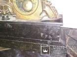 Часы каминные антикварные Жозефина мрамор шпиатр механика, фото №13