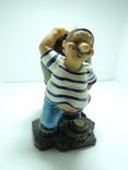 Моряк якорь статуэтка подставка ручная роспись полимер тяжелая, фото №2
