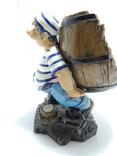 Моряк якорь статуэтка подставка ручная роспись полимер тяжелая, фото №5