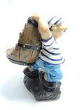 Моряк якорь статуэтка подставка ручная роспись полимер тяжелая, фото №7