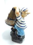 Моряк якорь статуэтка подставка ручная роспись полимер тяжелая, фото №8