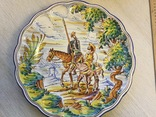 Тарелка «Дон Кихот». Керамика. Винтаж. Европа.