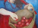 """Голубятникова Я.В. """"Девушка с корзиной яблок"""" 100см х 80см, фото №4"""