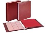 Комплект Linder 1106Е-W. Монетный альбом Classic система Karat. Вишнёвый.