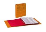 Папка-переплёт Half Penny c 10 нумизматическими листами Lindner 3107-H. Светло-коричневый. фото 2