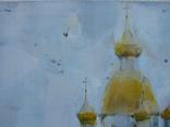 """Голубятникова Я.В. """"Церковь в с.Александровка. Туман"""" 60см х 40см, фото №3"""
