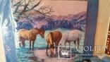 Лошади на водопое.