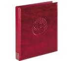 Папка-переплёт Half Penny c 10 нумизматическими листами Lindner 3107-W. Вишнёвый.