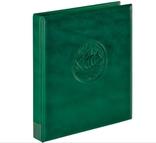 Папка-переплёт Half Penny c 10 нумизматическими листами Lindner 3107-G. Зелёный.