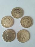 Лот из 5 монет 1 корона 1912-1915 годов Австро-Венгрия