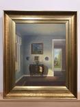 Картина интерьера. Автор C. Birkso 1860-1935 гг.