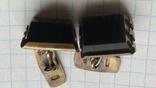 Запонки серебро,позолота,нат.камень 1ас 875пр.звезда 10,6г., фото №9
