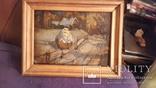 Картина в раме пейзаж,картон,масло с подписью на обороте Гончар photo 4