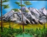 Горный пейзаж, 58*49 см