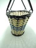 Корзинка лукошко сумка детская плетеная миниатюрная клеймо СССР, фото №3