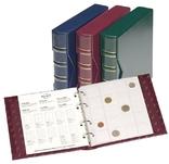 Альбом для монет Numis 280 монет. Lindner 312262. Вишнёвый цвет.
