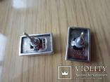Винтажный набор Кольцо и серьги серебро 925 с гранатом, фото №5