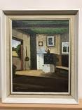 Картина с интерьером сельского дома. Автор L. Johansson.