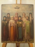 Икона Господь Саваоф, Параскева, Евдокия, Васса, Анна, Евграф, Павел, Дамиан.
