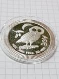 Серебряная монета, Афинская сова (легенда с тетродрахмы) 1 унция photo 2