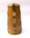 Медный кувшин с чеканкой на тему Буддизма. 28 см. высота. photo 6