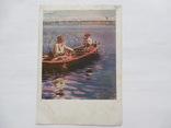 Почтовая карточка 1928 год издательства ГТГ рыболов тир. 20 тыс, фото №2