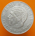 Швеція 1 крона 1954 р., фото №2