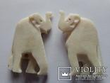 Две подвески слоны12,22 грамм