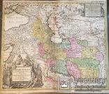 """Карта """"Персидская империя"""" 1720 год. Баптист Гоманн. Атрибуция"""
