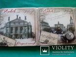 6 подставок под пивные кружки (бирдекелей) с изображением Львова (в запайке), фото №4