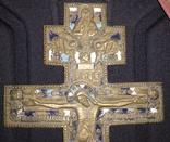 Крест старообрядческий в 3-х эмалях photo 3