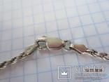 Бусы  серебро 925 с натуральным малахитом Italy, фото №9