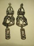 Серебряные сережки 925 пробы СССР