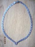 Колье сложного плетения, серебро 925, Италия photo 1