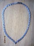 Колье сложного плетения, серебро 925, Италия, фото №3