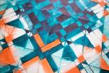Геометрична акварельна абстракція Оранжевий-бірюзовий (129х99) Ю. Смаль photo 6