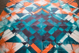 Геометрична акварельна абстракція Оранжевий-бірюзовий (129х99) Ю. Смаль photo 7