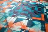 Геометрична акварельна абстракція Оранжевий-бірюзовий (129х99) Ю. Смаль photo 8