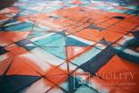 Геометрична акварельна абстракція Оранжевий-бірюзовий (129х99) Ю. Смаль photo 10