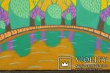 Картина акрилом для дитячої кімнати. Сад біля озера. (30х30см) С. Смаль photo 3