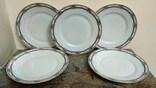 Антикварные тарелки тонкий фарфор клеймо Koenigszelt Германия
