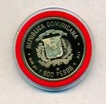 500 песо Доминиканская республика 1990г., парусник photo 7