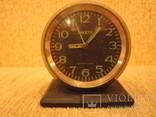 Часы будильник Ракета черный циферблат, фото №2