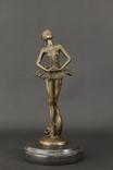 """""""Балерина"""" бронзовая статуэтка на мраморной подставке, подпись"""