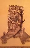 Подставка оленей с натуральным рогом оленя, фото №2