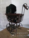 Винтажная в Викторианском стиле коляска для кукол, фото №3