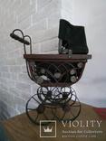 Винтажная в Викторианском стиле коляска для кукол, фото №6