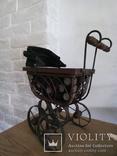 Винтажная в Викторианском стиле коляска для кукол, фото №7